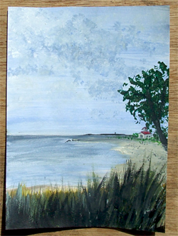 Popham Beach%2C Maine - Watercolor on Paper - Andrea Brand Art