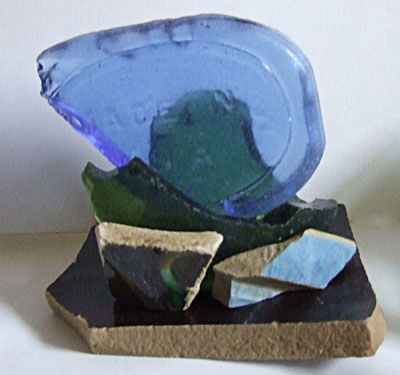 Maine Sea Glass Sculptujre - Andrea Brand