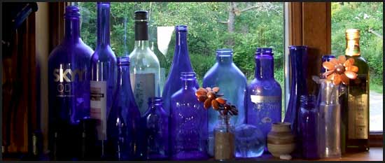 Blue Bottles - Andrea Brand Photo
